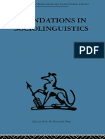 Fundations in sociolinguistics (preview)