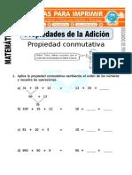 Ficha de Propiedades de La Suma Para Segundo de Primaria