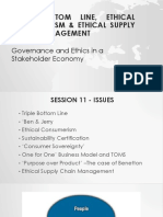 Presentation Triple Bottom Line, Ethical Consumerism and Ethical Supply Chain Management