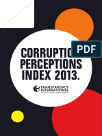 2013 Corruption Index