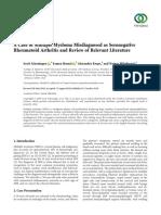 A Case of Multiple Myeloma Misdiagnosed as Seronegative AR