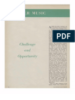 Chamber Music- Challenge and Opportunity