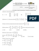 Lista1_Matrizes- Determinantes e Sistemas Lineares