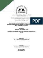 TESIS. Encuadres noticiosos del caso Ayotzinapa. Análisis comparativo del discurso en CNN en Español, Canal Once, Televisa y TV Azteca..pdf