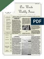 Newsletter Volume 10 Issue 13