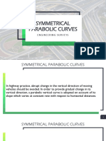 Symmetrical Parabolic Curves