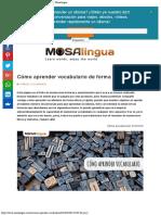 Aprender Vocabulario en Ingles de Forma Eficaz