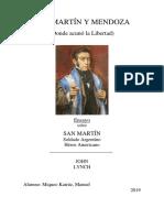 San Martin y Mendoza (La que acunó la Libertad)