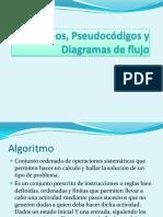 Algoritmos, Pseudocódigos y Diagramas de Flujocynthia