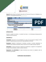 Modelo Informe de Gestión