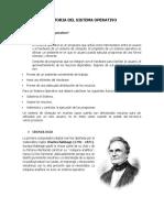 Historia Del Sistema Operativo