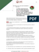 Lei Complementar 275 2012 Sertaozinho SP