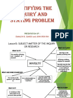 Identifying the Inquiry and Stating Problem(Emmalyn and Rin)