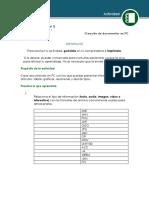 Creación de documentos en PC