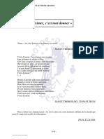 2006_la Charite Aimer c'Est Tout Donner_citations