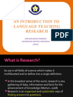 Introduction to Language Teaching Research