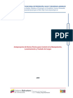 Anteproyecto de Norma Técnica para Control en la Manipulación, Levantamiento y Traslado de Cargas.pdf