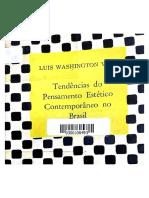 """VITA, Luís Washington """"Tendências do pensamento estético contemporâneo no Brasil"""" (1967) sobre Sérgio Milliet"""