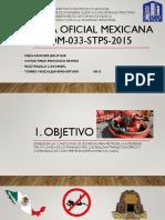 Norma Oficial Mexicana Nom 033 Stps 2015