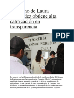 Gobierno de Laura Fernández obtiene alta calificación en transparencia