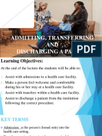Admission, Transfer and Discharge
