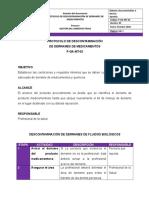 PROTOCOLO DE DESCONTAMINACION DE DERRAMES DE MEDICAMENTOS