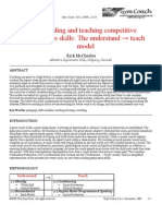 Understanding and teaching competitive gymnastics skill