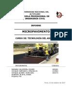 Informe de Micropavimentos