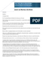 Statement on Burma Elections eng. FM Rudd
