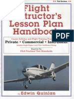 Flight Instructors Lesson Plan Handbook Edwin Quinlan