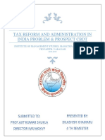 tax reform and administration in india proble1 (Autosaved).docx