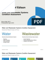 Township of Edison Water and Wastewater Systems Condition Assessment