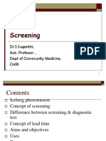 Screening for Disease