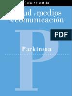 Salud y Medios de Comunicación. Párkinson. Federación Española de Párkinson