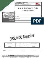 Planeación Cuarto Grado. 2o Bimestre