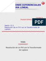 Resolución de Un PVI Con La Transformada de Laplace