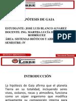 Hipótesis de Gaia Diapositivas