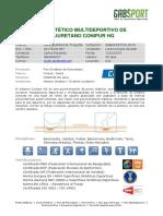 Cotización Piso de Poliuretano Conica HG Pure- GABSPORT