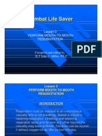Medical Combat Lifesaver L03 Mouth to Mouth Resuscitation