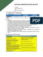 Plan de Trabajo Municipio Escolar 2019