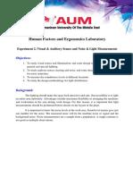 IE 486 -Experiment 2- Visual  Auditory Senses and Noise  Light Measurement-Summer 2018.docx