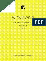Wieniawski - Etudes-Caprices COVER