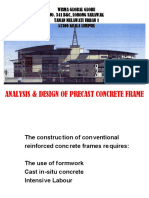 Analysis and Design of Precast Frames