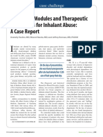 Treatment Modules and Therapeutic Approaches for Inhalant Abuse a Case Report