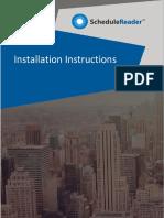 ScheduleReader Installation Instructions