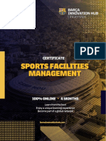 Certificate in Sports Facilities Management