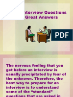 Ten Interview Questions and Ten Great Answers