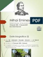 Mihai Eminescu prezentare