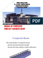Design of Composite Precast Beam