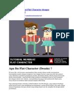 Tutorial Membuat Flat Character Dengan Adobe